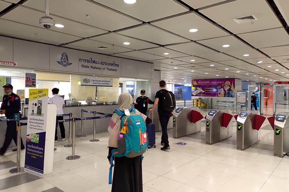 曼谷機場輕軌買錯票,怎麼去櫃檯退票