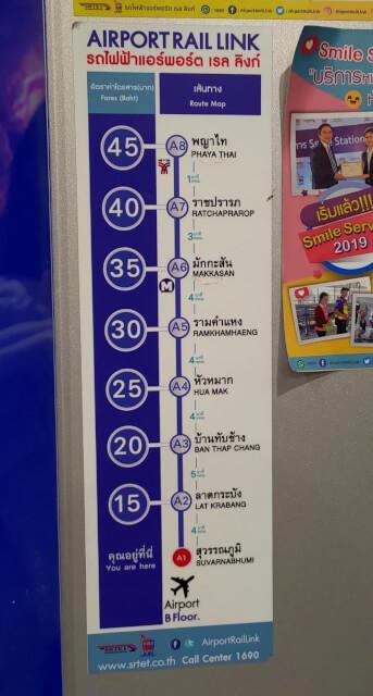 曼谷機場快線 有幾個站點?