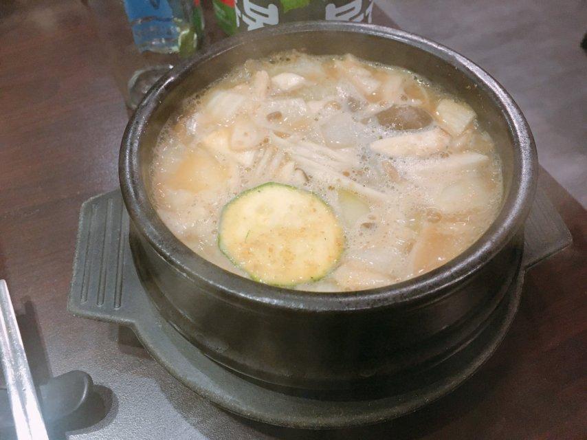 台中韓國烤肉_火板大叔_大醬湯