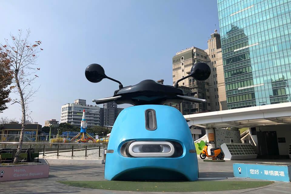 台中公車一日遊 第3站:勤美超大gogoro