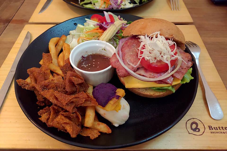 巴特彰化早午餐-培根起司堡