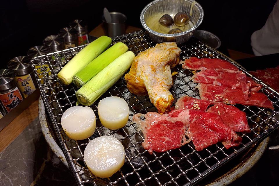 台中火烤兩吃肉品和海鮮