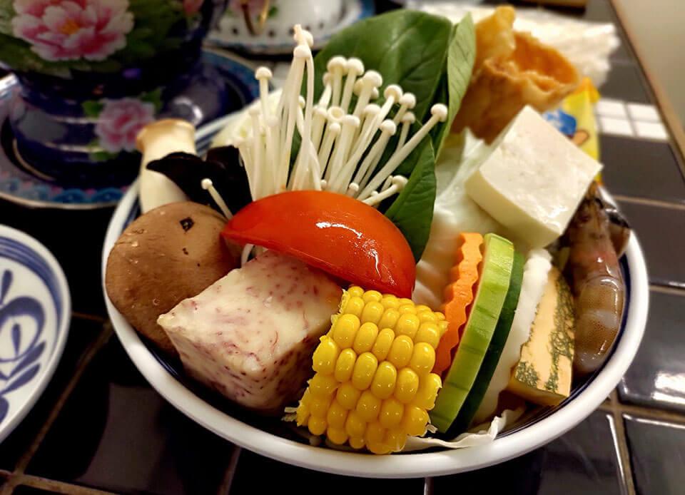 芳華火鍋公司的菜盤