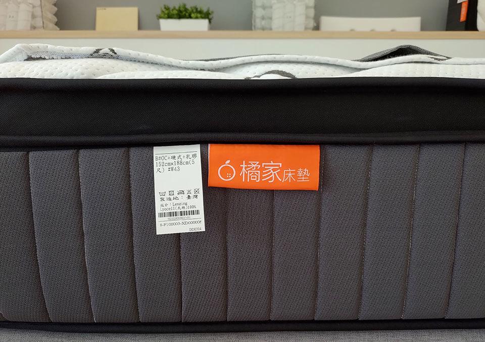 每張床墊上皆有清楚的產地與材質標示