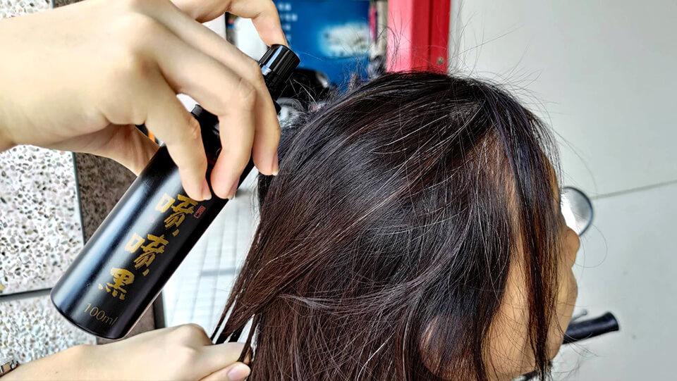 使用噴噴黑第一天-天然染髮劑推薦