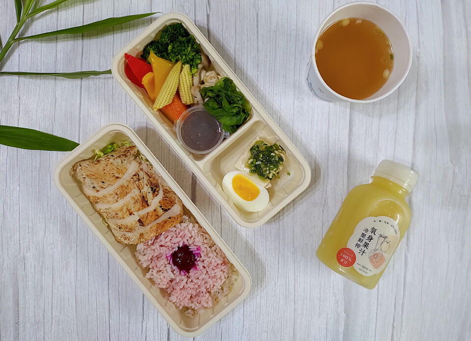 彰化健康餐盒-鮮嫩迷迭香雞胸餐盒
