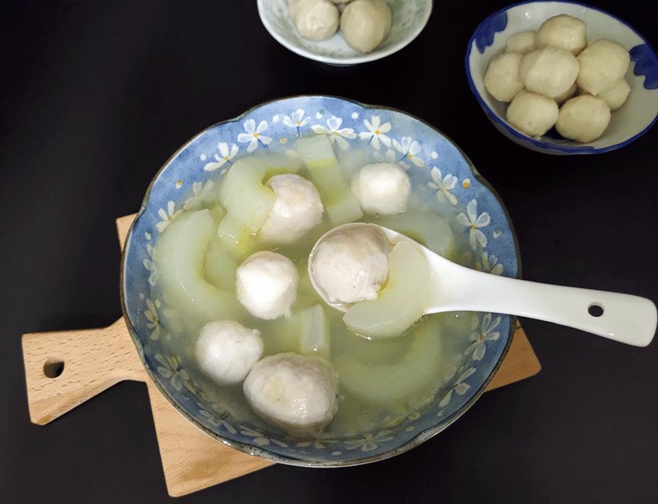 大黃瓜雙色丸子湯